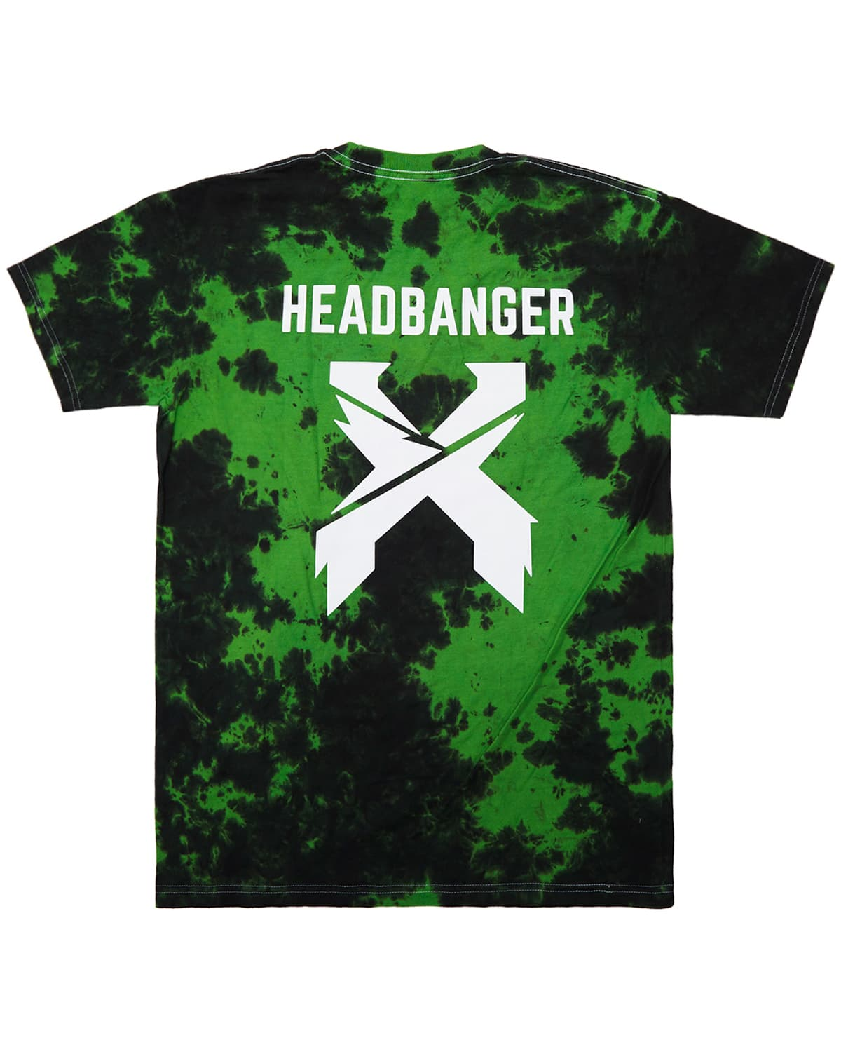 Excision 'Headbanger' Unisex Tie-Dye T-Shirt - Green