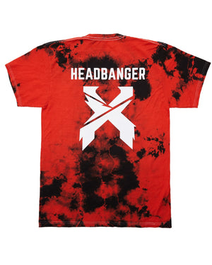 Excision 'Headbanger' Unisex Tie-Dye T-Shirt - Red
