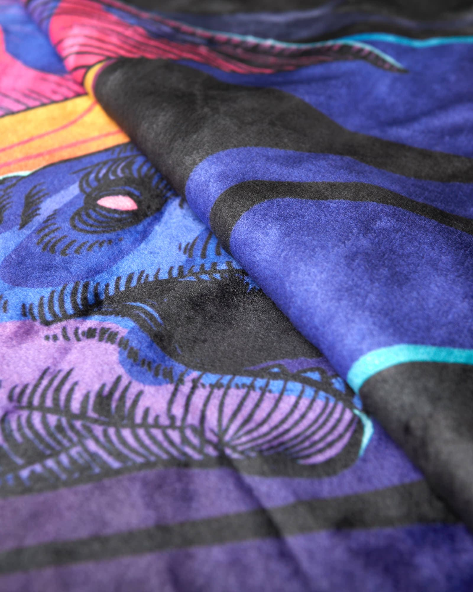'DinoX' Blanket - Purple/Yellow/Black