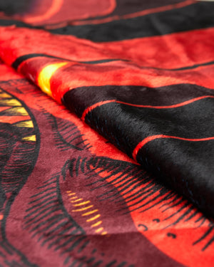 'DinoX' Blanket - Red/Orange/Black
