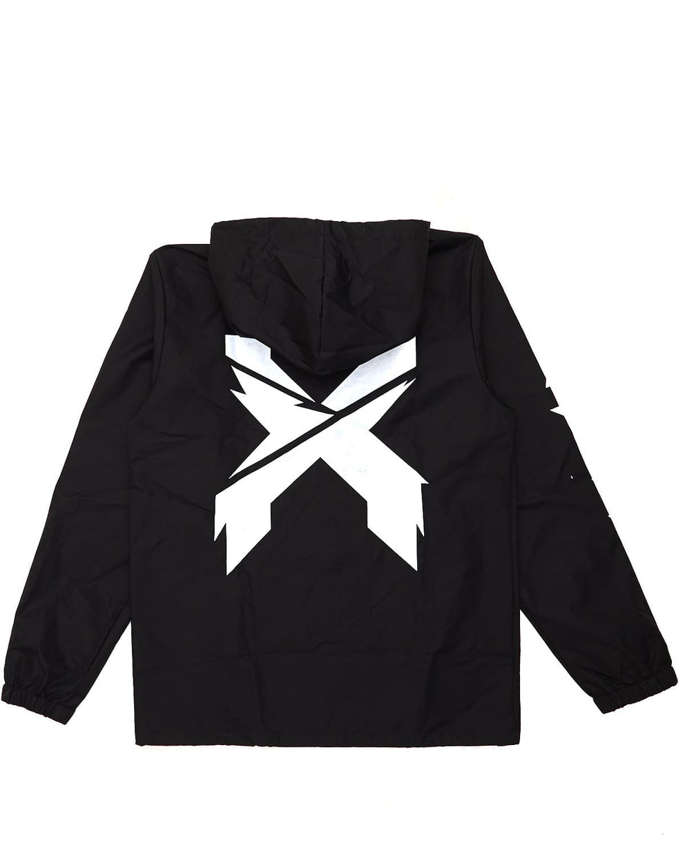 Excision Hooded Windbreaker - Black/White