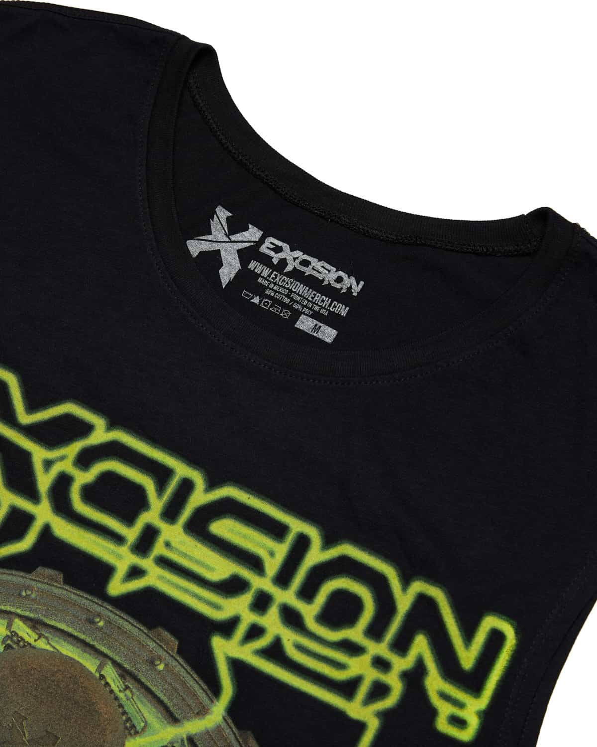 Excision 'Lazer Skull' Unisex Sleeveless T-Shirt - Green