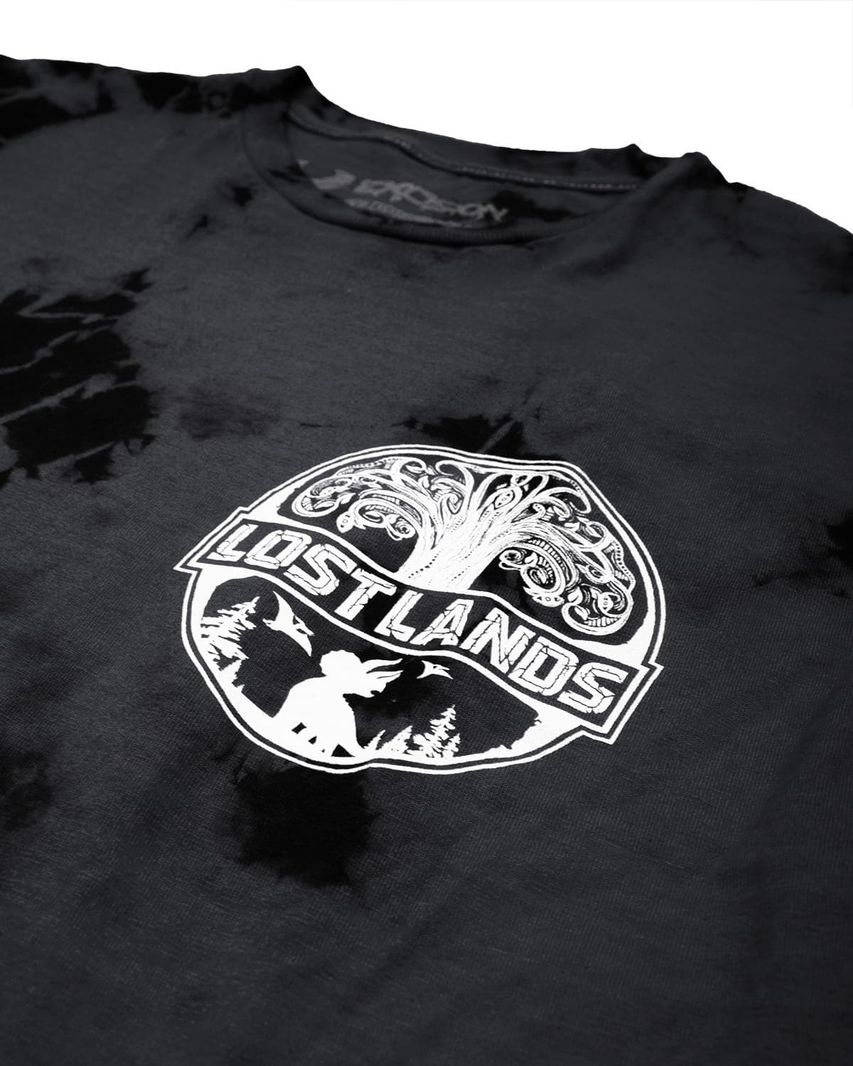 Official Lost Lands Tie Dye T-Shirt - Grey/Black