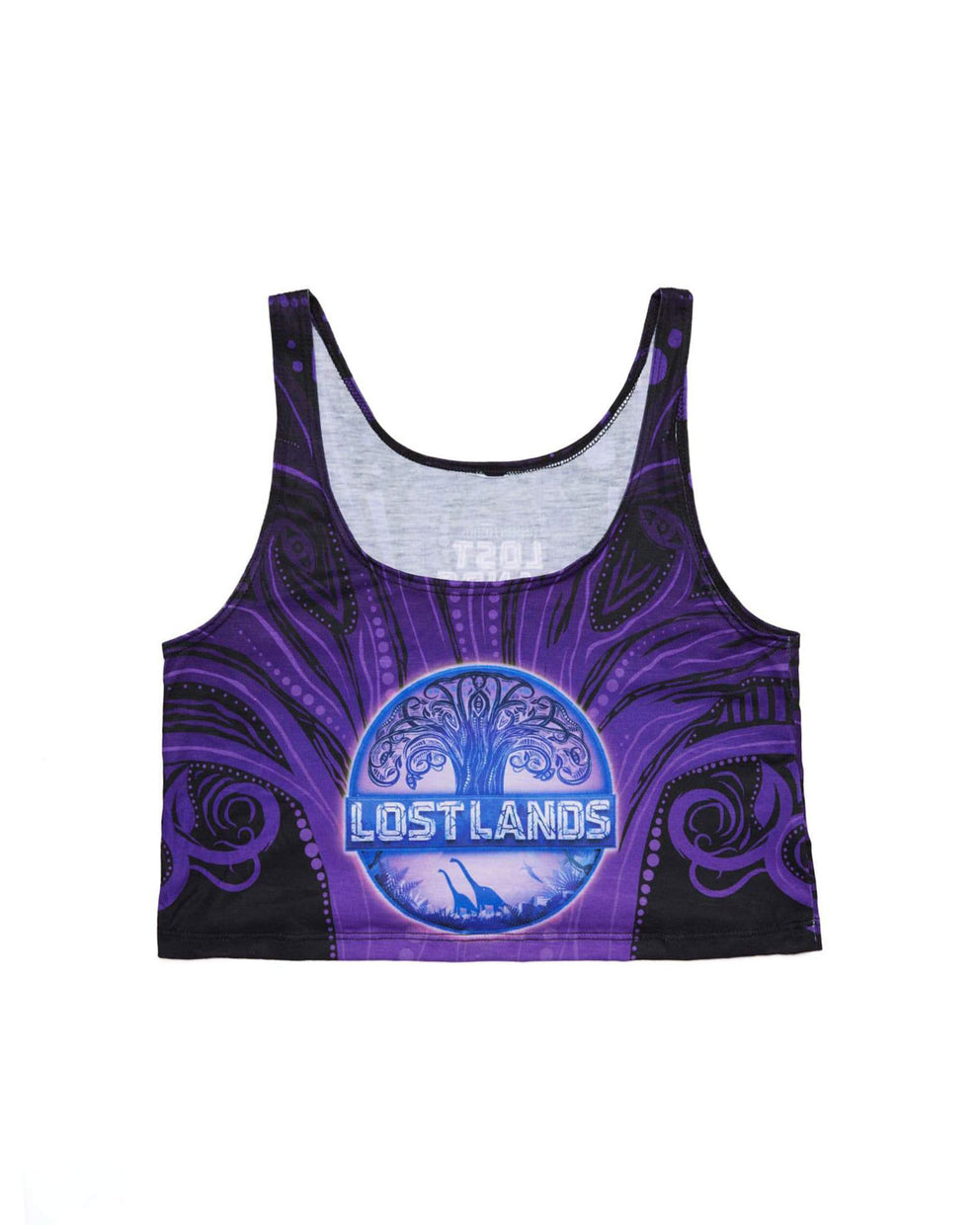 Lost Lands 'Crop Circle' Women's Crop Top (Purple)