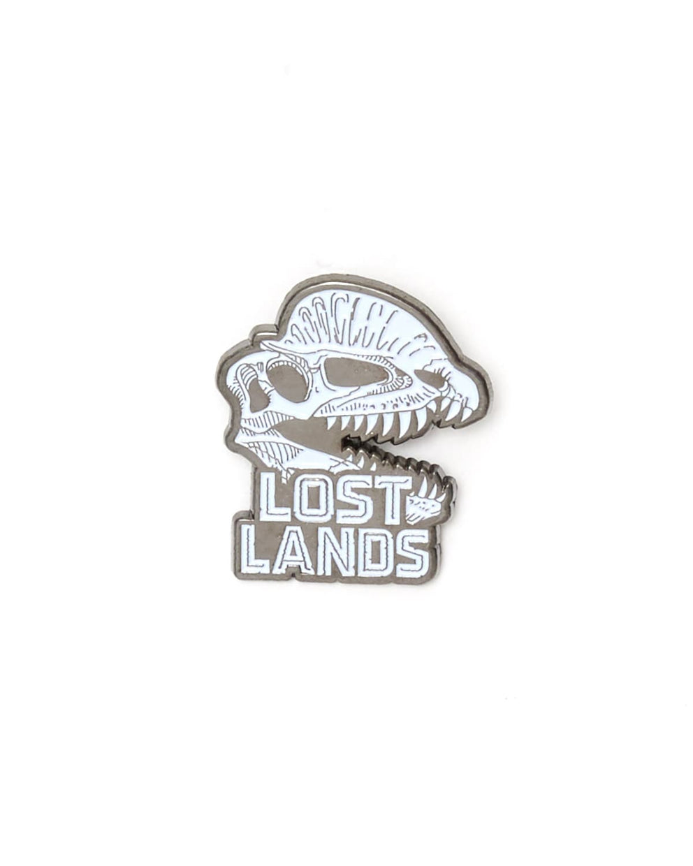 Lost Lands 'Dilophosaurus' Enamel Pin - White