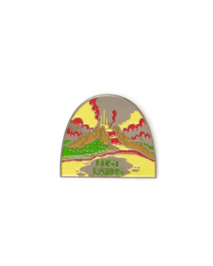 Lost Lands 'Eruption' Enamel Pin - Yellow/Green/Red