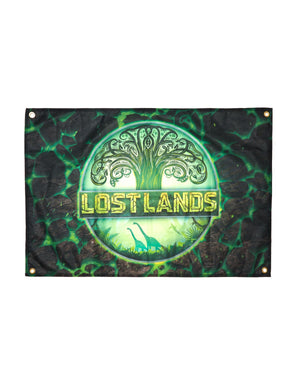 "Lost Lands Flag - 36"" x 24"" - Green"