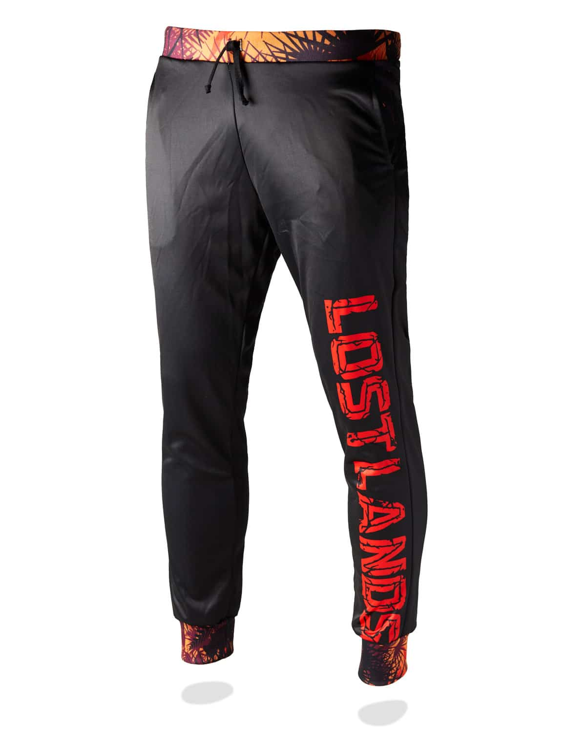 Lost Lands 'Foliage' Jogger Sweatpants (Black/Orange)