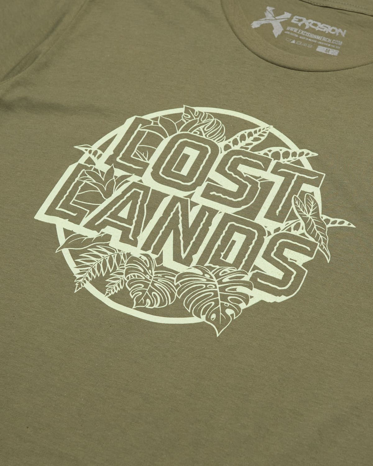 Lost Lands 'Foliage' Unisex Tee - Army Green