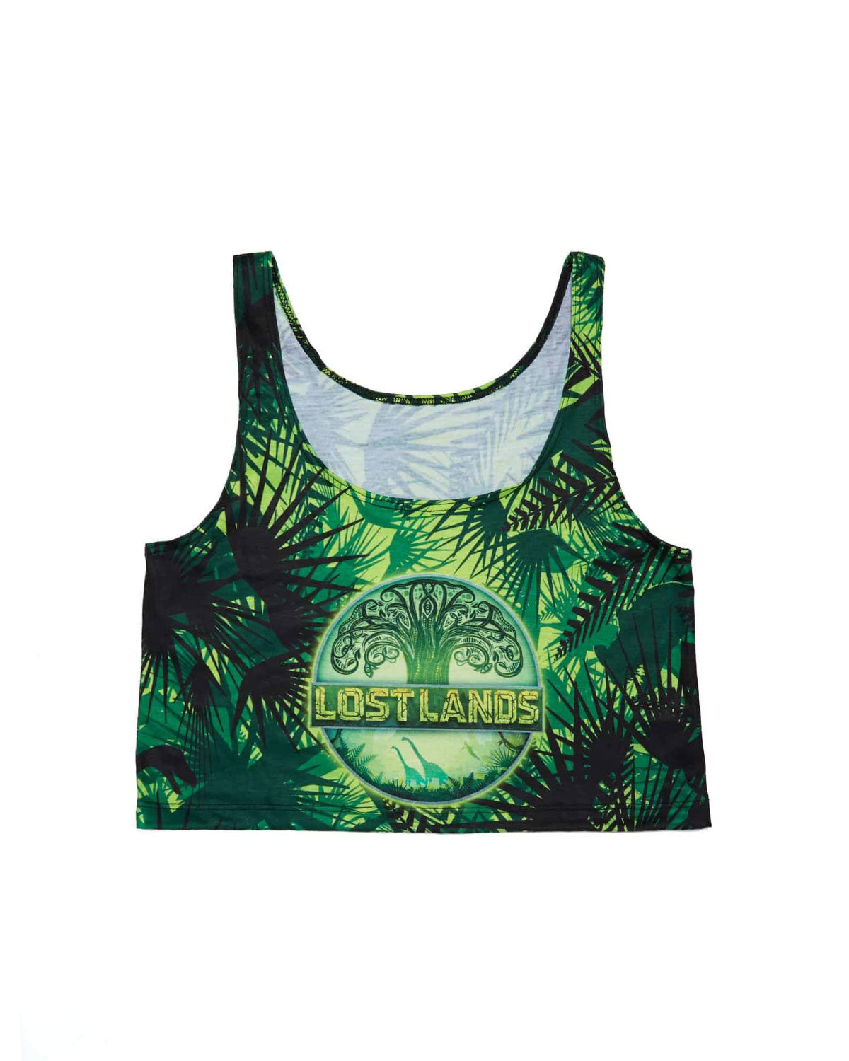 Lost Lands 'Foliage' Women's Crop Top (Green)