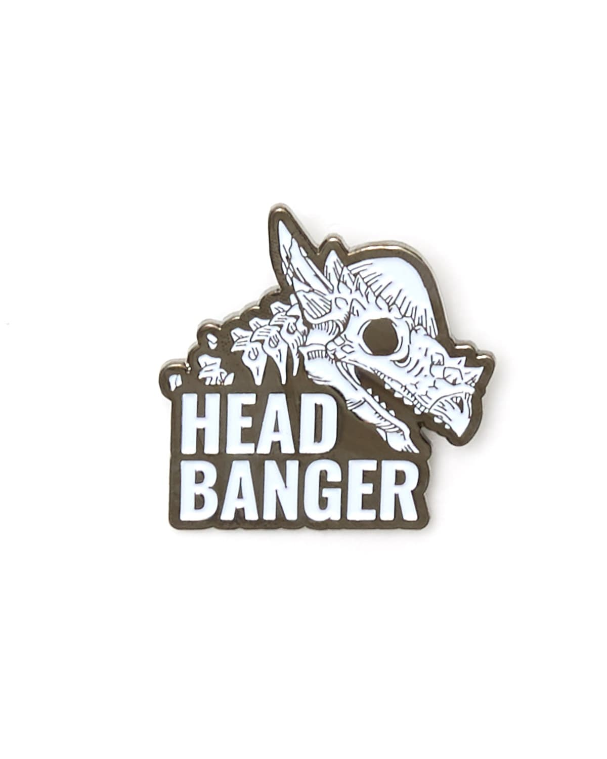 Lost Lands 'Headbanger' Enamel Pin - White