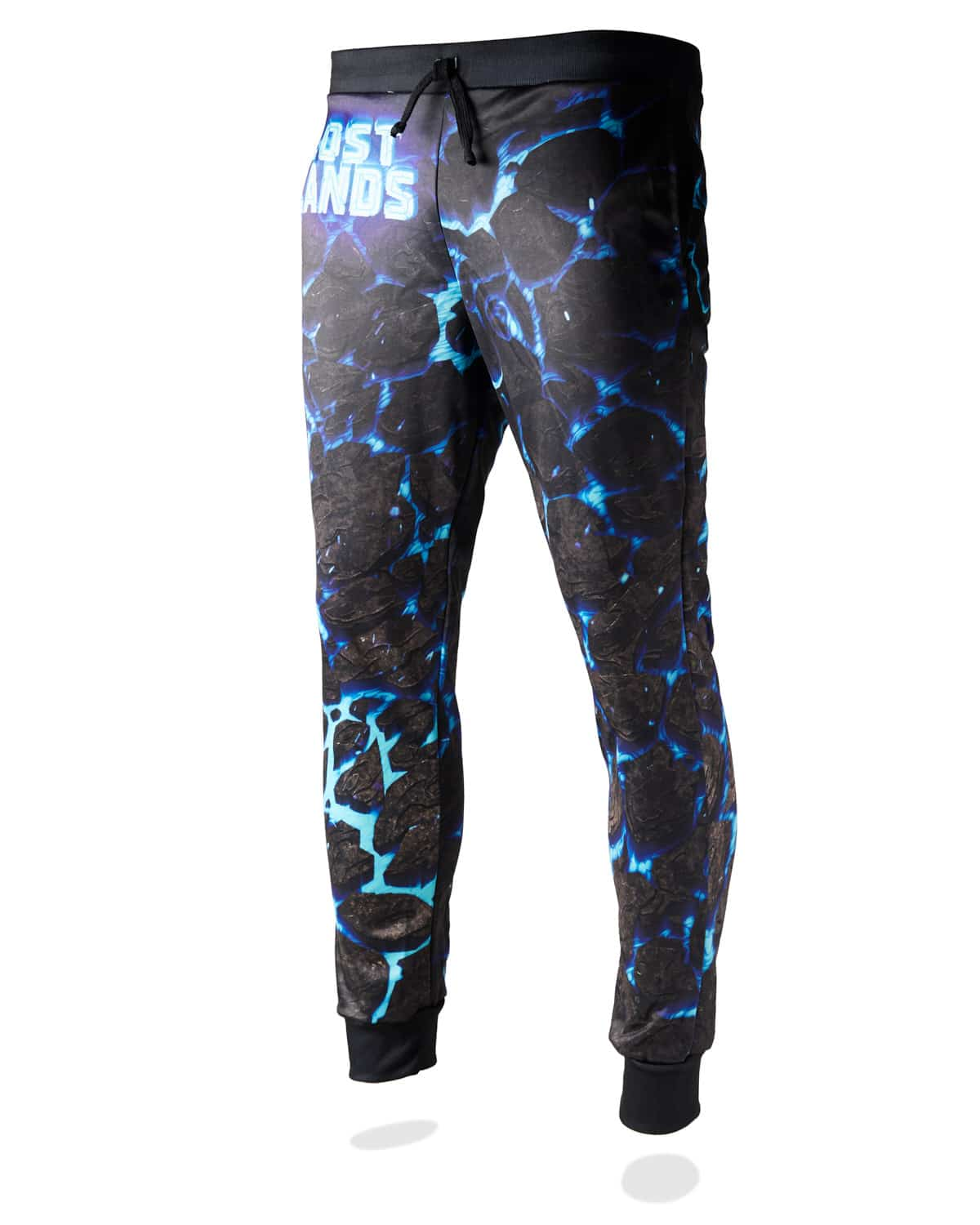 Lost Lands 'Magma' Jogger Sweatpants (Black/Blue)