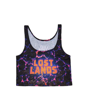 Lost Lands 'Magma' Women's crop Top (Nebula)