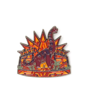 Excision 'Lost Lands Performance' Enamel Pin - Burgundy/Orange
