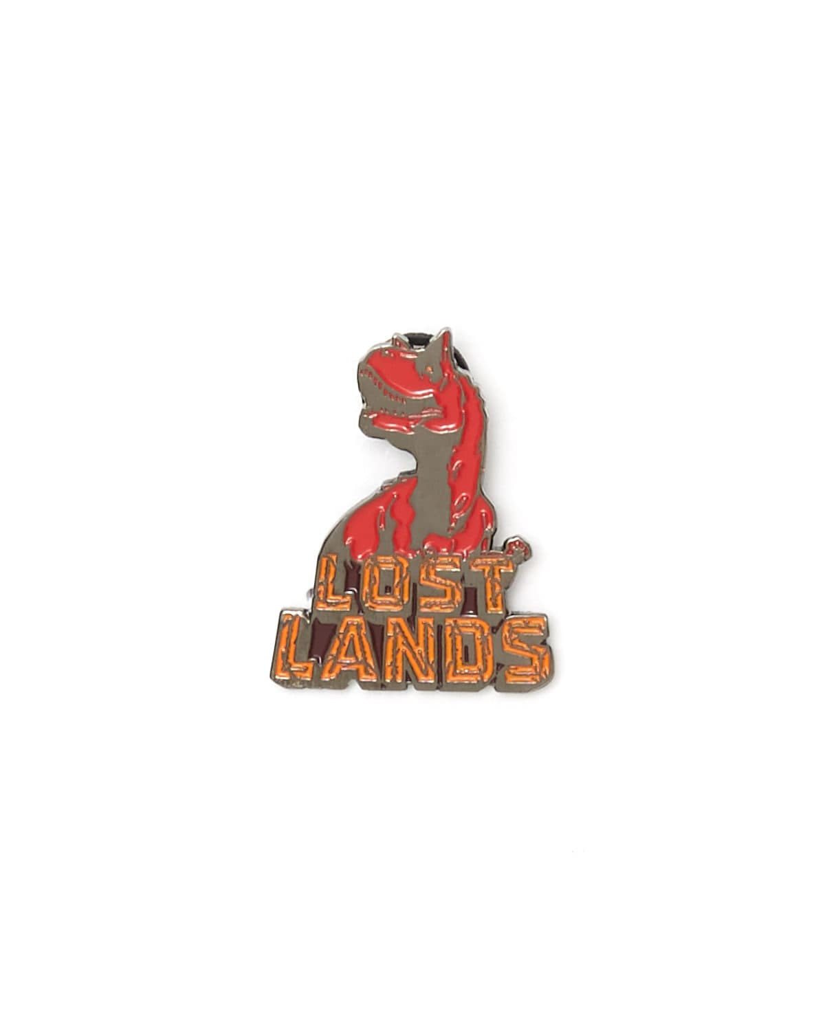 Lost Lands 'T-Rex' Enamel Pin - Red/Orange