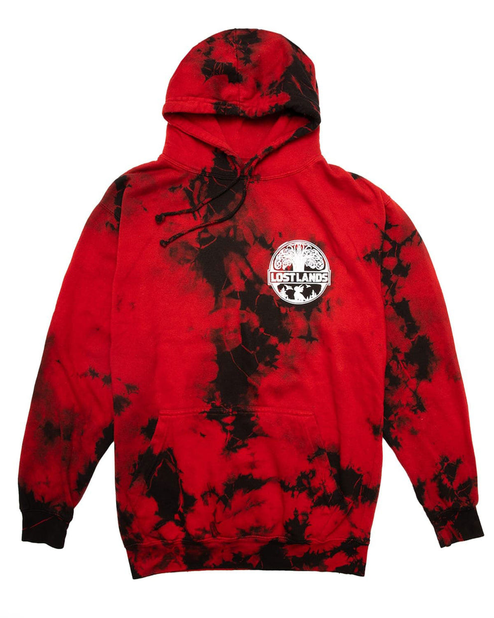 Official Lost Lands Tie Dye Pull Over Hoodie - Red