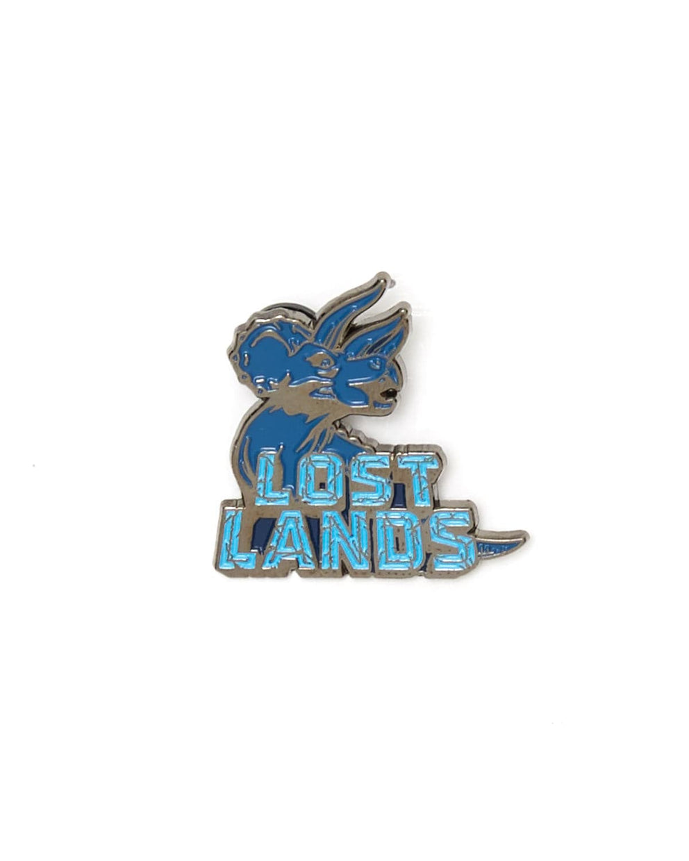 Lost Lands 'Triceratops' Enamel Pin - Blue