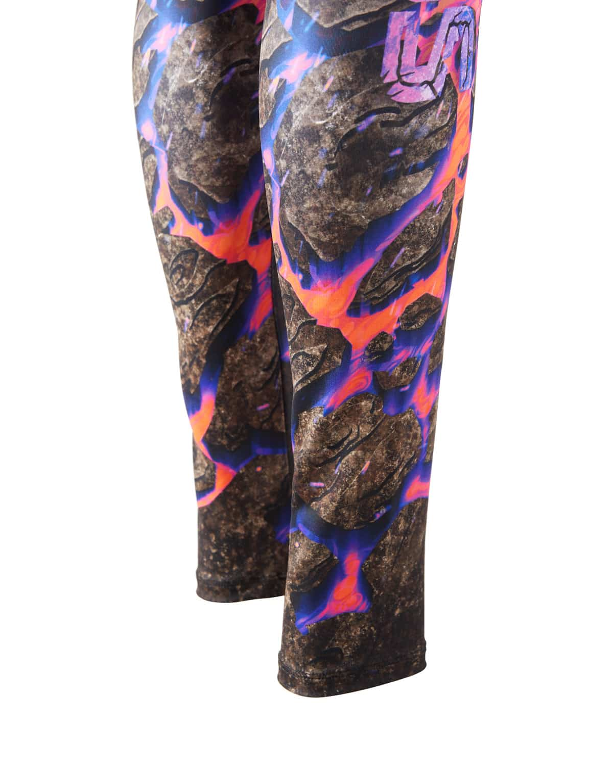 Lost Lands 2018 'Magma' Leggings - Black/Pink/Orange
