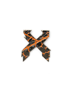 Magma 'Sliced' Logo Enamel Pin - Orange