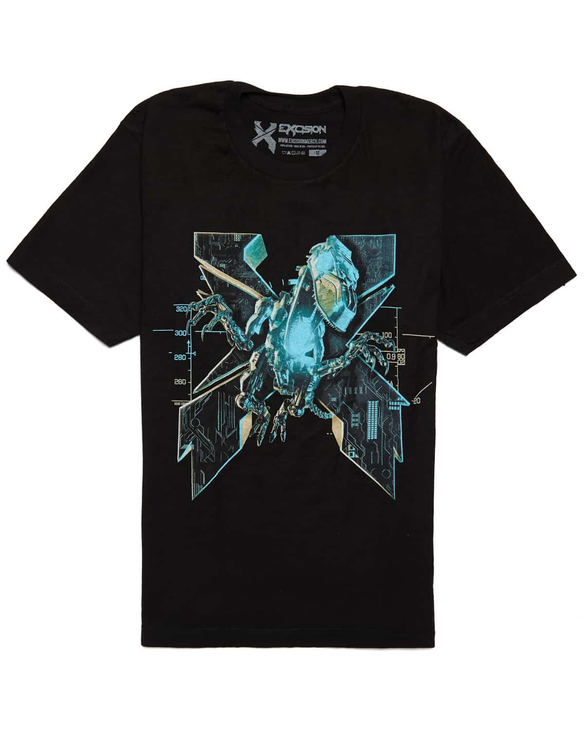 Excision 'Magnetite' Unisex T-Shirt - Black/Blue
