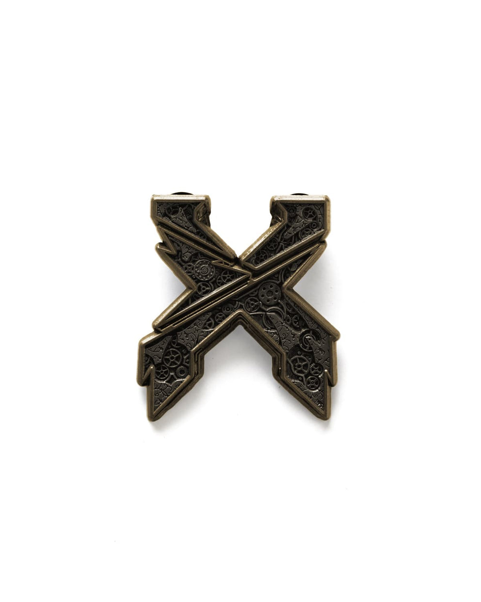 Excision 'Mech' Logo Pin - Antique Gold