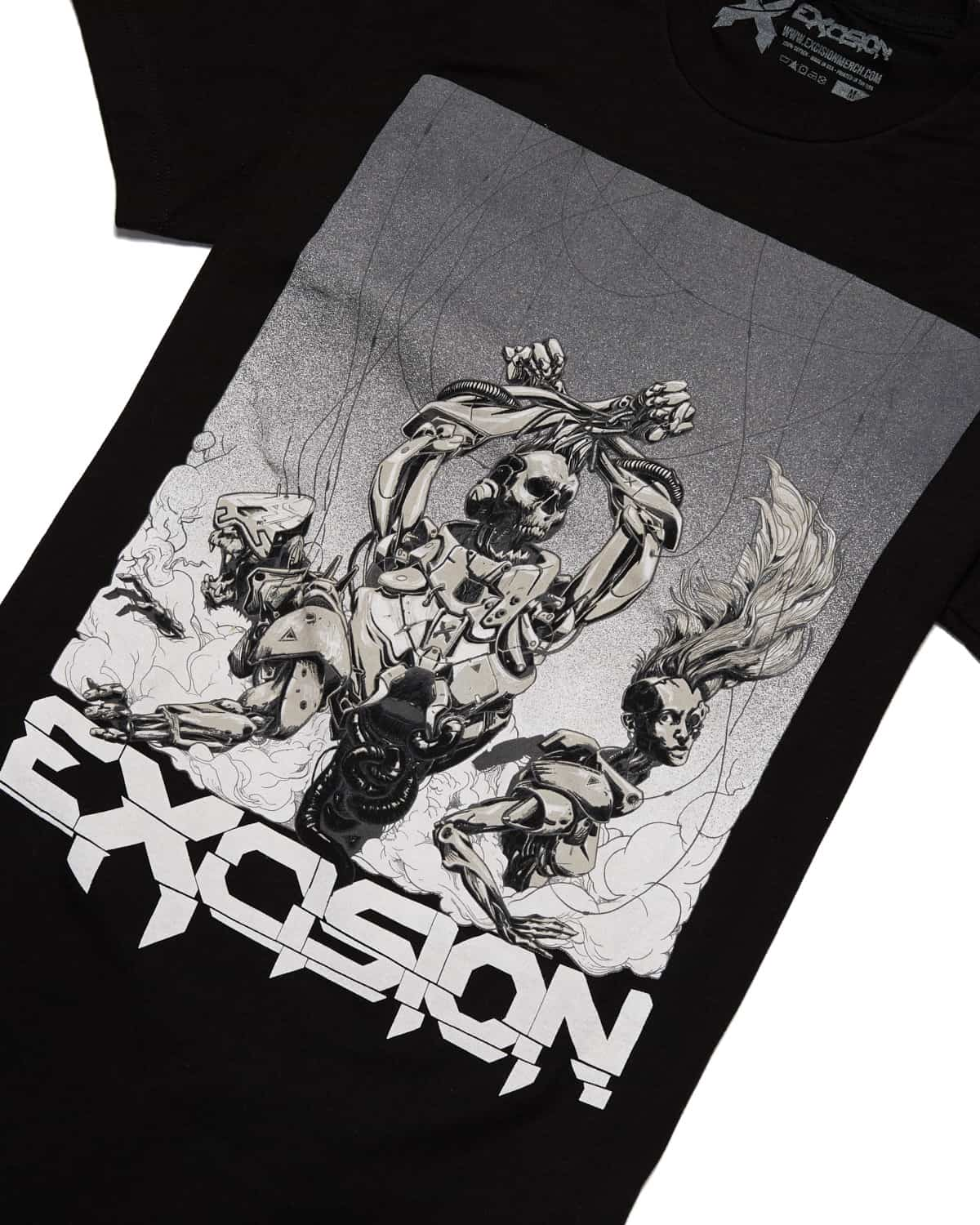 Excision 'Moshpit' Unisex T-Shirt - Black/Grey