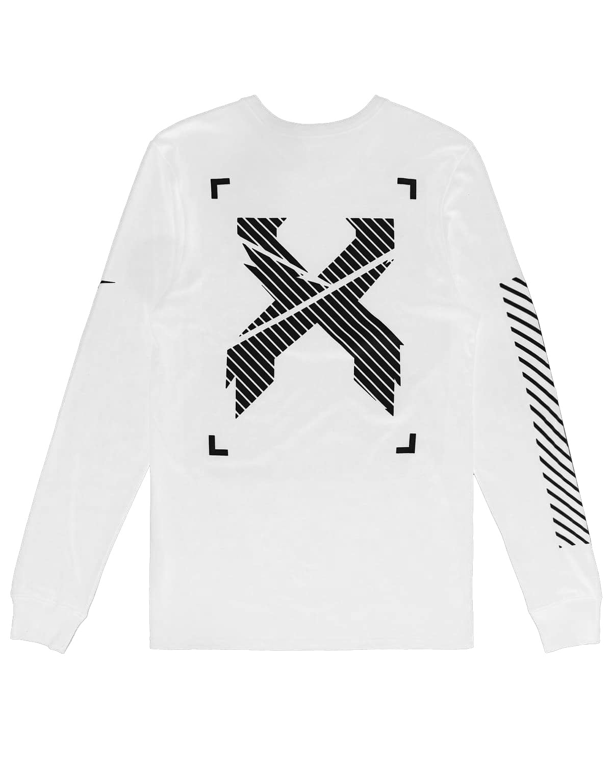 Excision x Nike 'Sliced' Logo Long Sleeve Tee - White