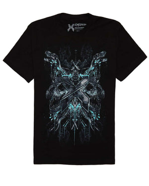 Excision 'Petrified' Unisex T-Shirt - Black/Blue