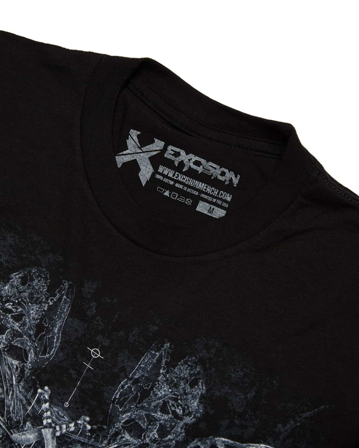 Excision 'Petrified' Unisex T-Shirt - Black/White