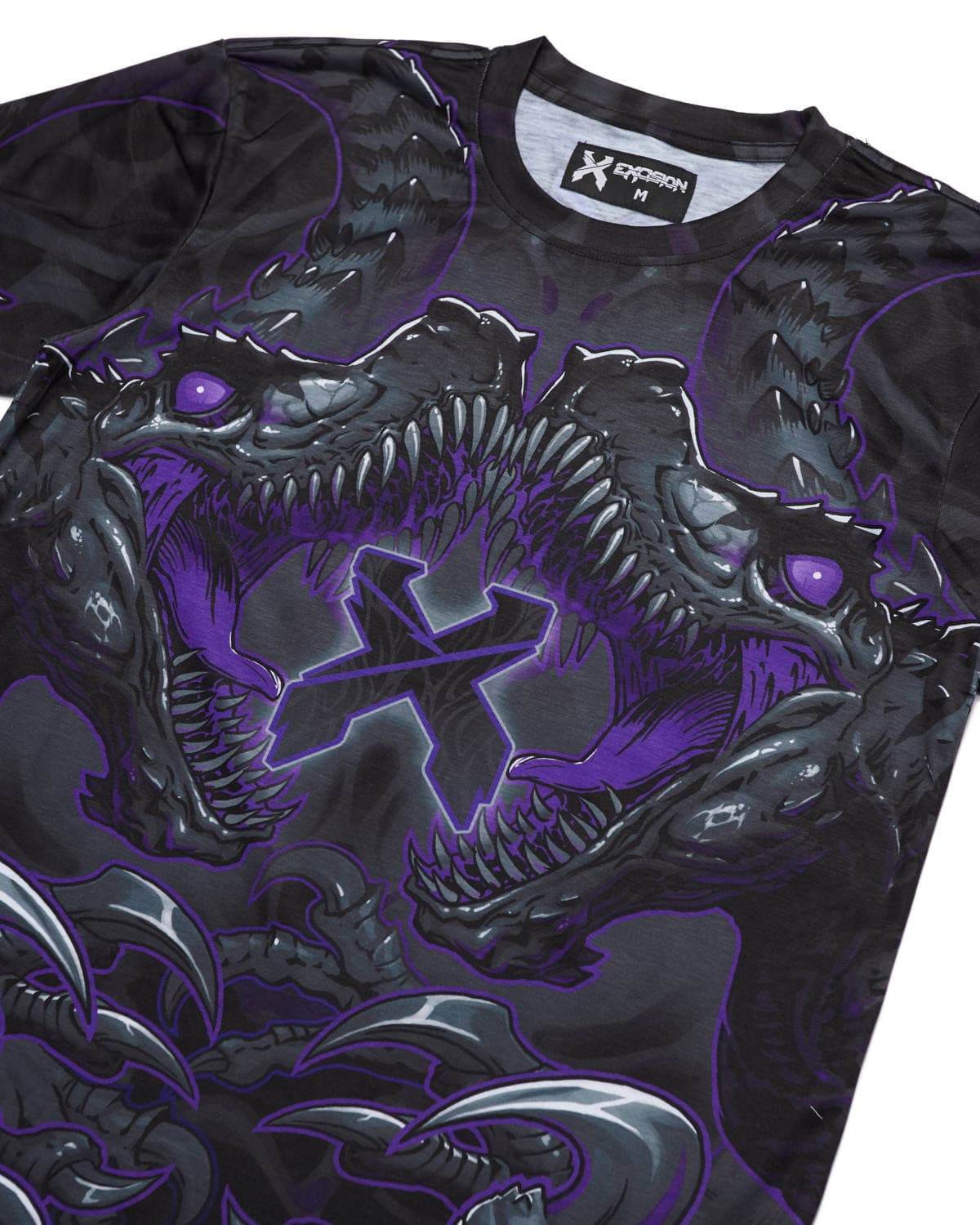'Raptor Attack' Dye Sub Tee - Purple