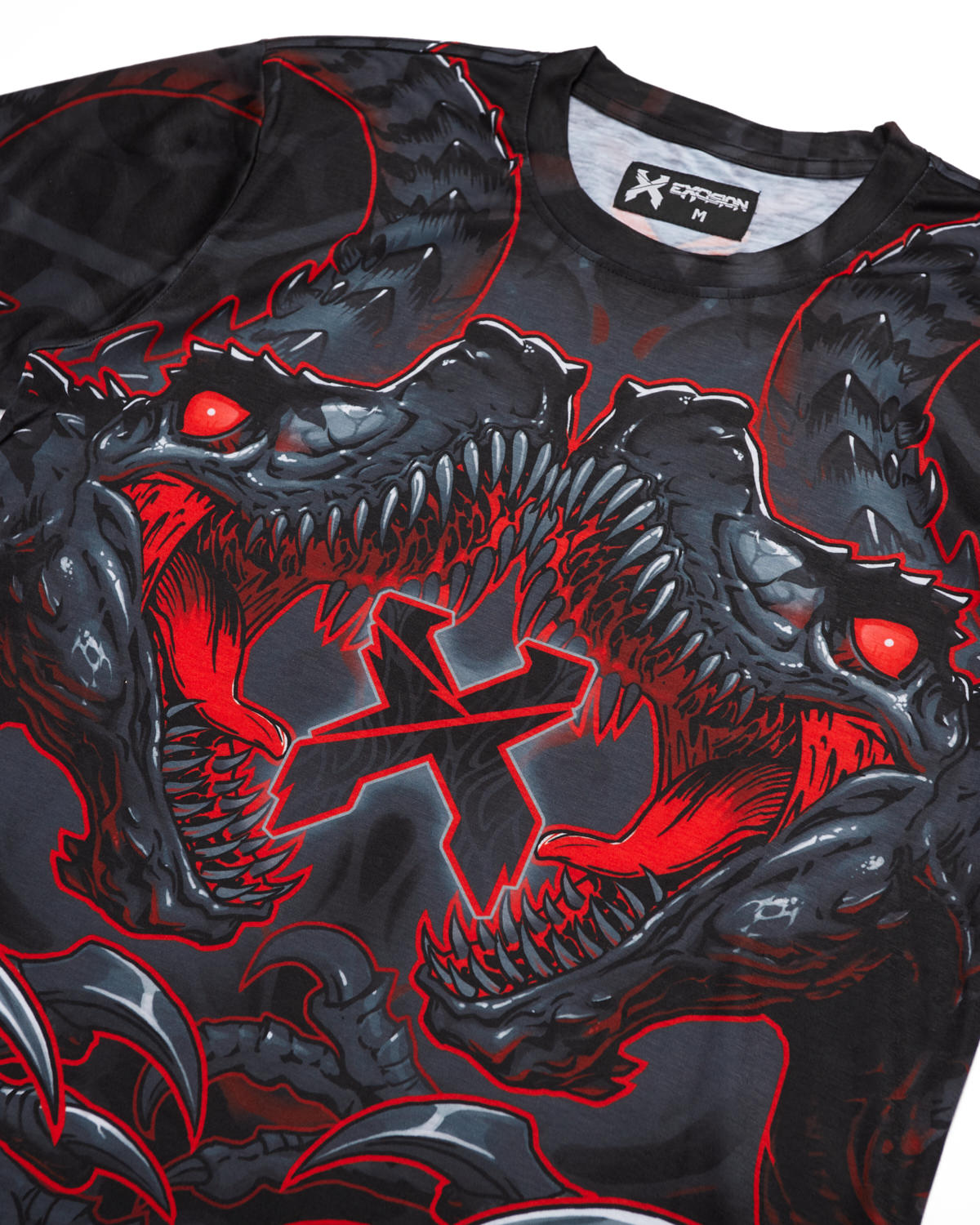 'Raptor Attack' Dye Sub Tee - Red