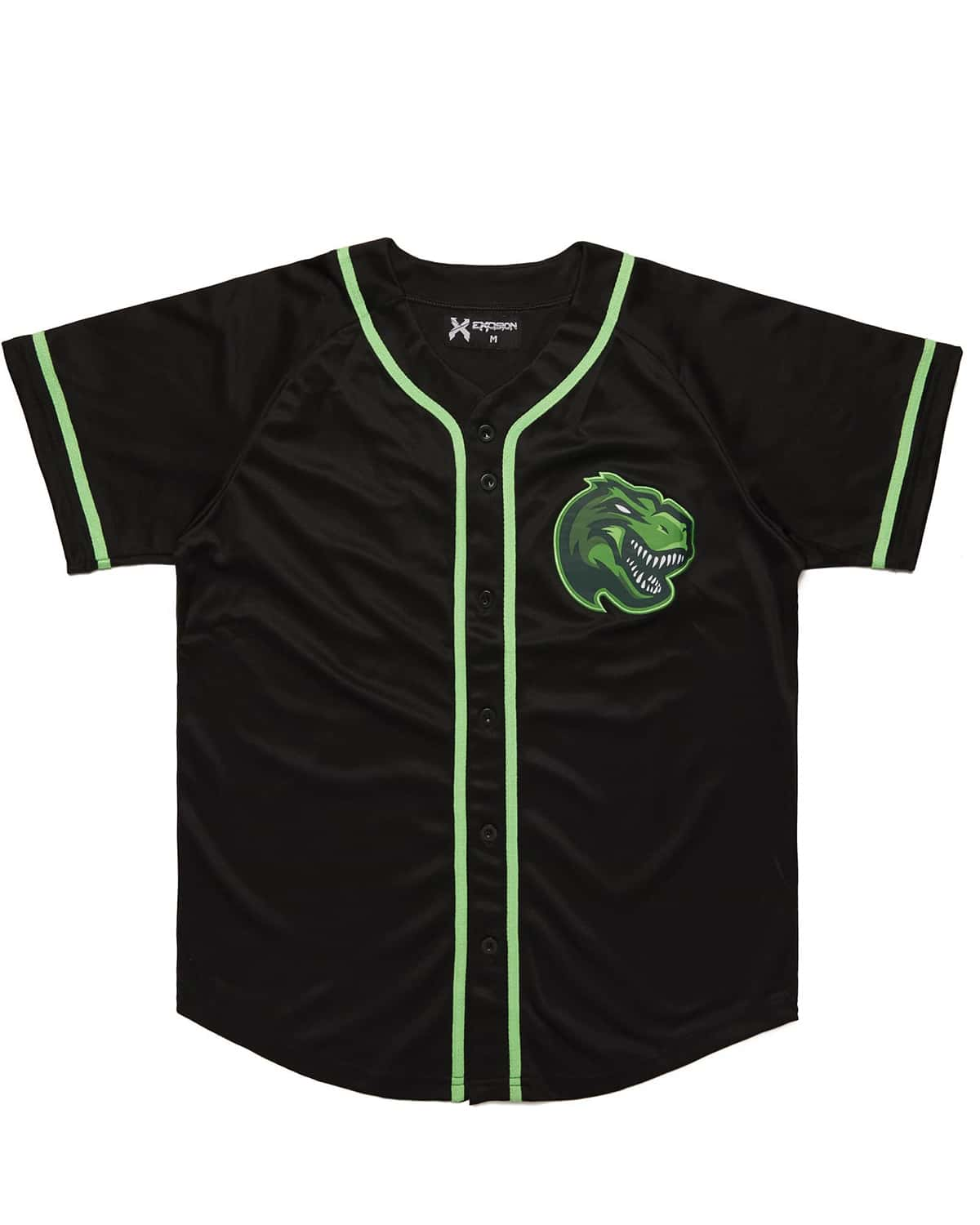 Excision Rex Baseball Jersey - Green