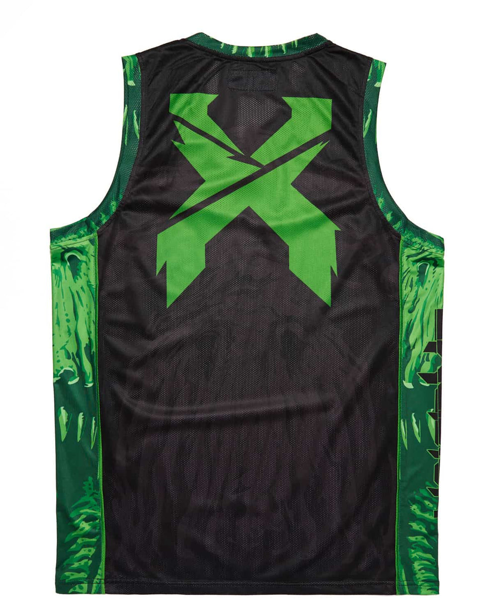 'Excision Rex' Basketball Jersey - Green/Black
