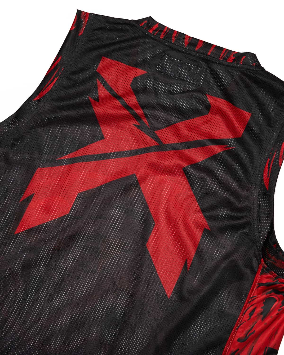 'Excision Rex' Basketball Jersey - Red/Black