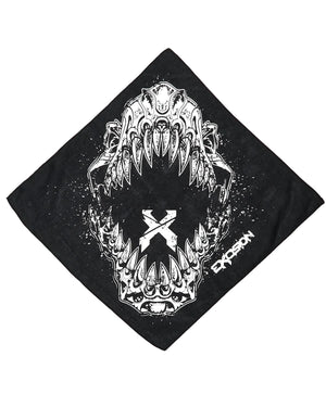 'Rex Jaw' Bandana - Black