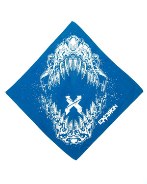 'Rex Jaw' Bandana - Blue