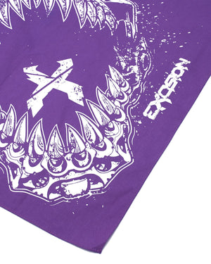 'Rex Jaw' Bandana - Purple
