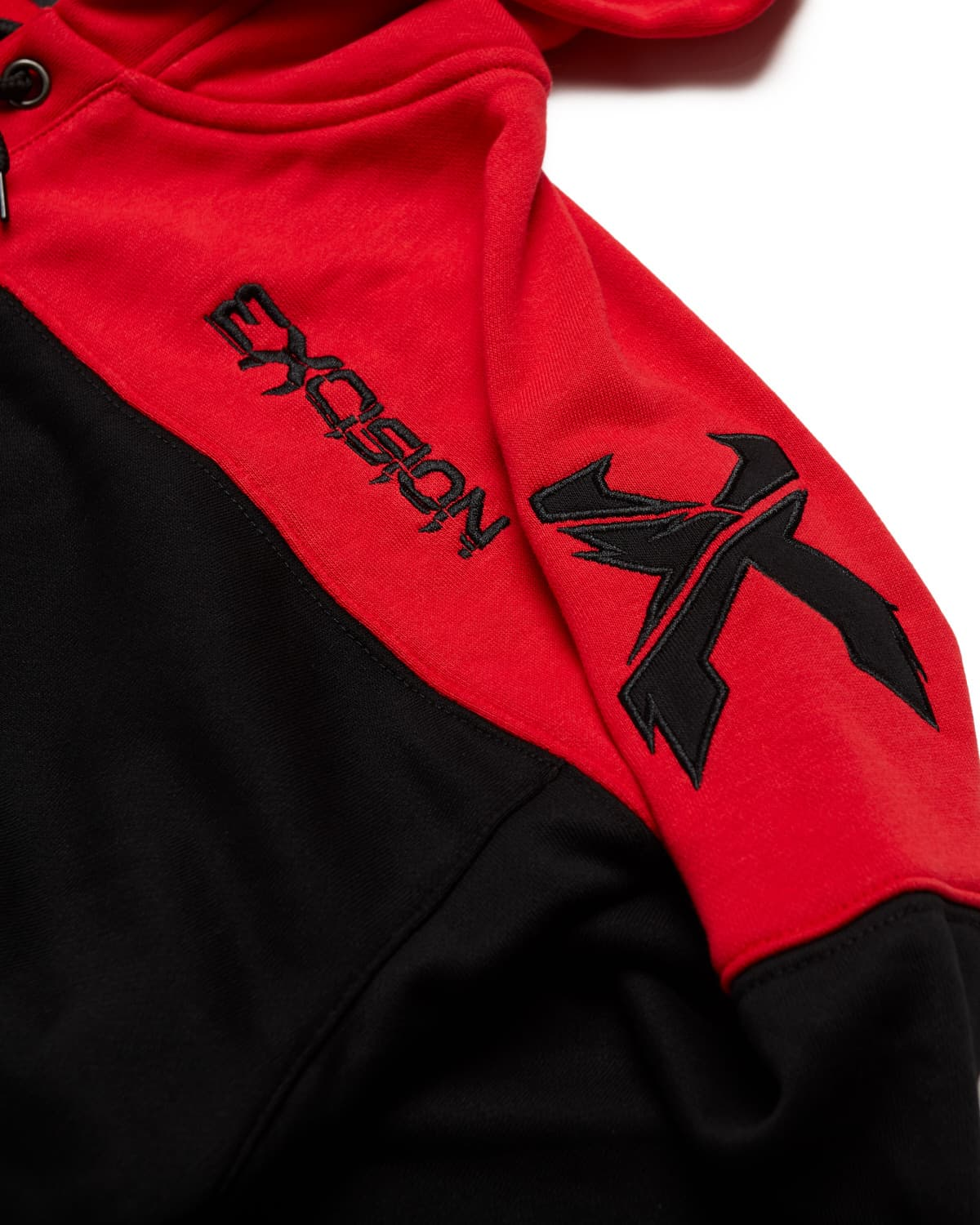 Excision Rex Lacer Hoodie - Black/Grey/Red