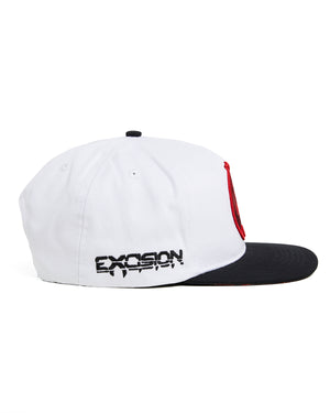 'Rex' Snapback - White/Black/Red