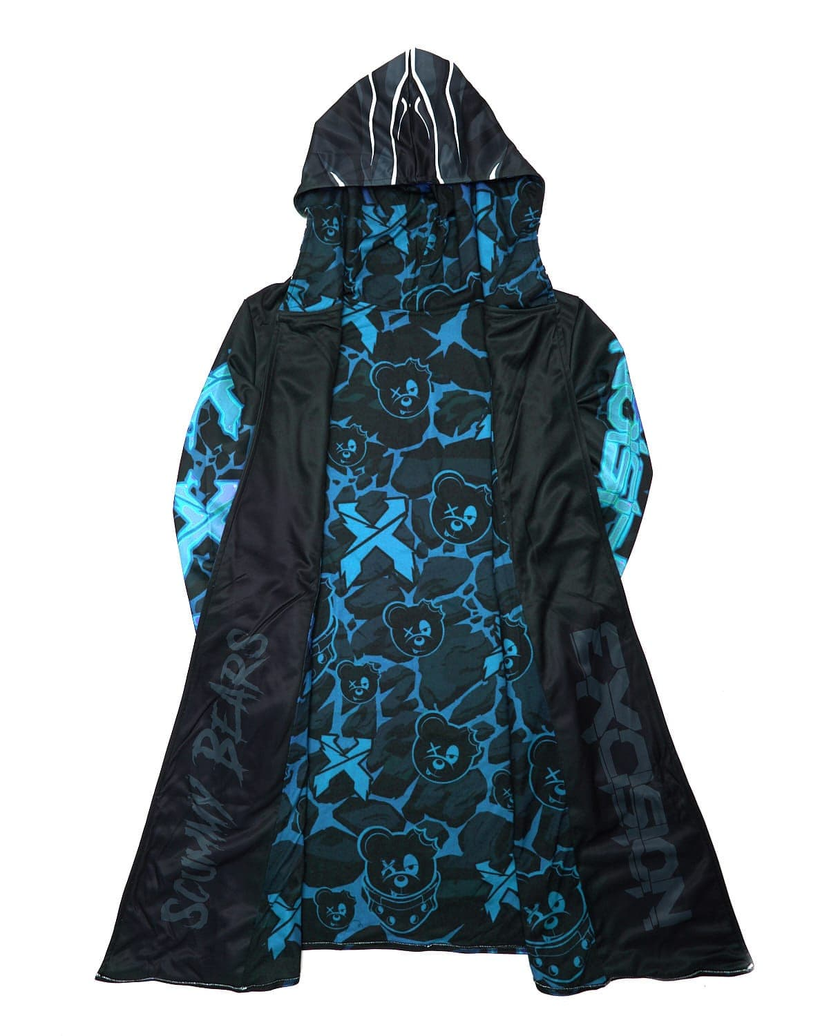 Excision x Scummy Bears Dye Sub Cloak - Blue