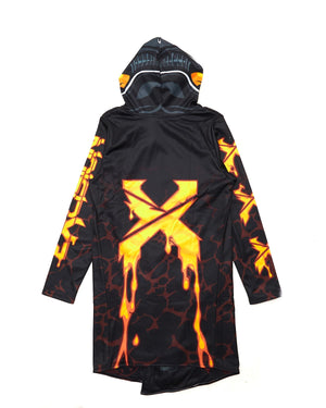 Excision x Scummy Bears Dye Sub Cloak - Black/Orange/Yellow