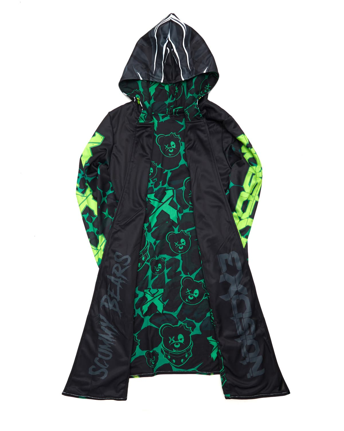 Excision x Scummy Bears Dye Sub Cloak - Green