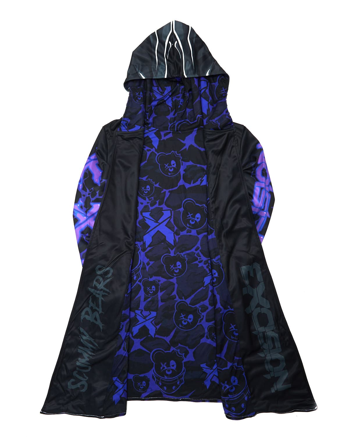Excision x Scummy Bears Dye Sub Cloak - Purple