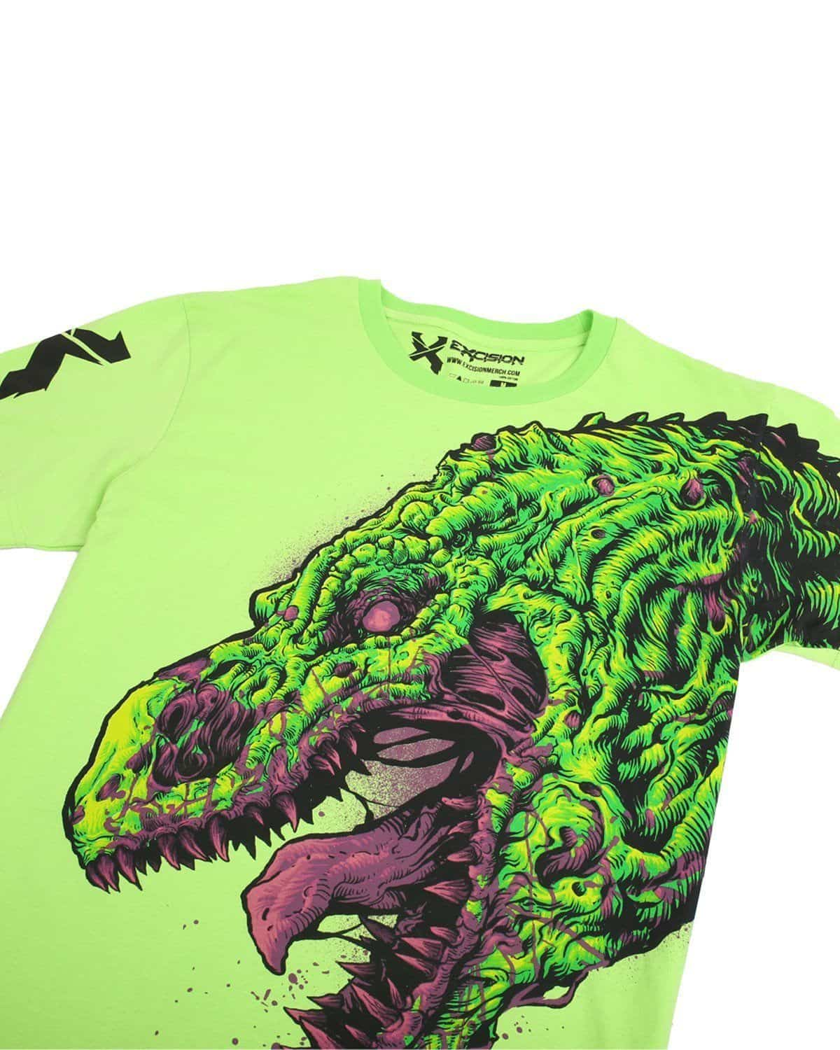 Excision 'Side Rex' Unisex T-Shirt - Lime Green
