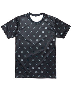 Sliced Logo Allover Print Dye Sub Tee - Black