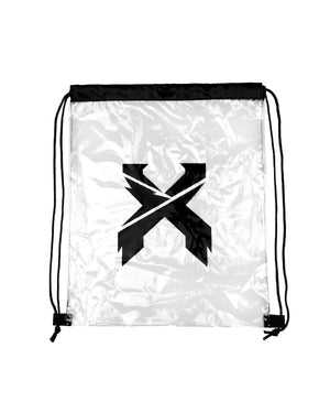 'Sliced' Logo Clear Drawstring Bag