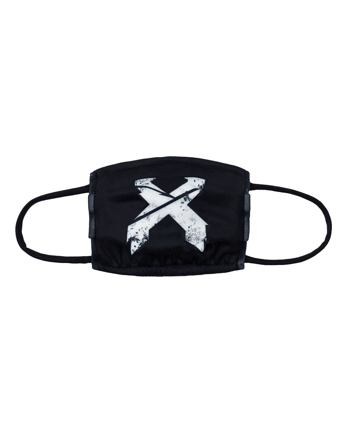 'Sliced' Logo Face Mask - Black/White