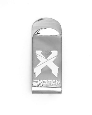 Excision 'Sliced' Logo Money Clip - Chrome/White