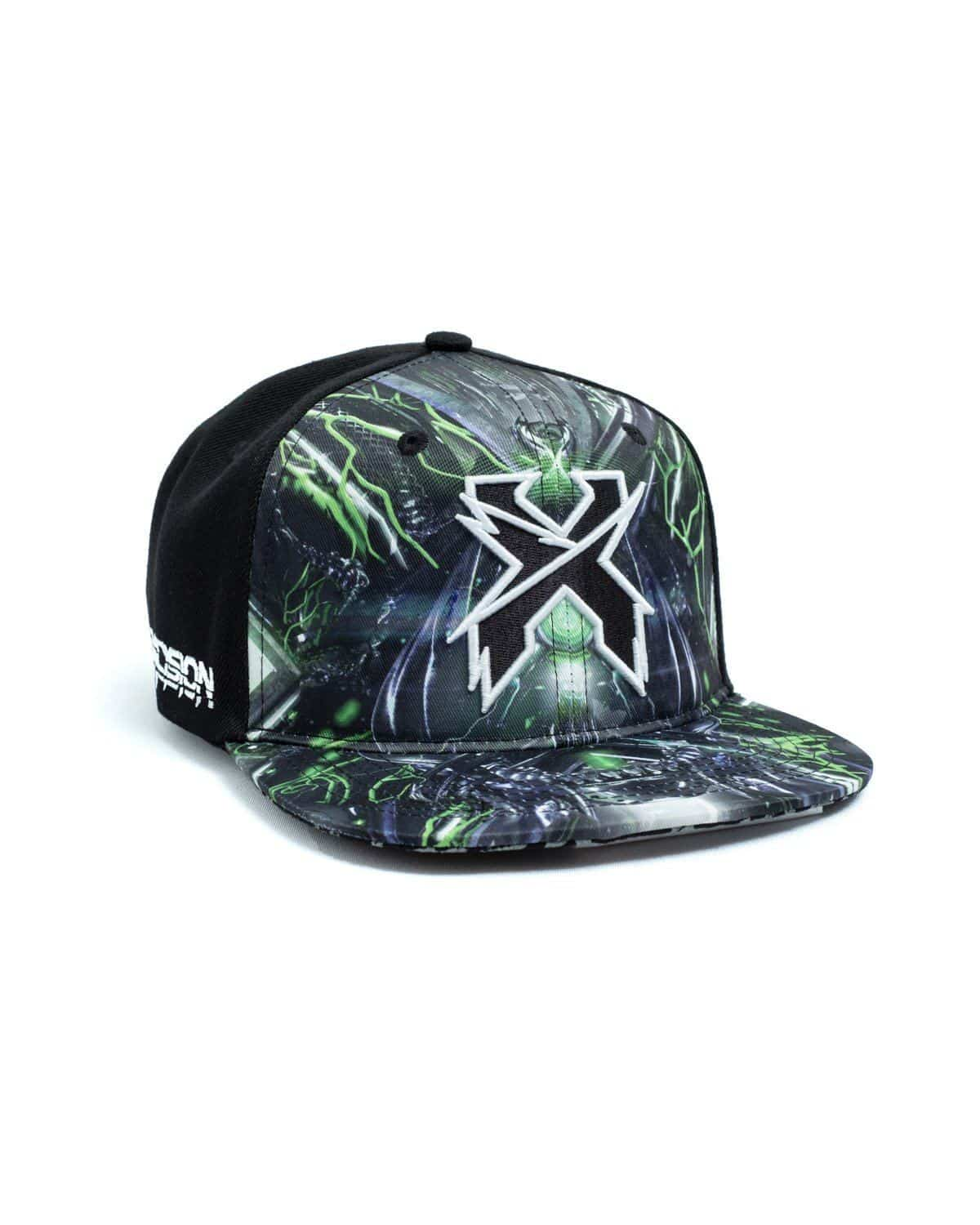 Excision 'Sliced Logo' Paradox Tour 2018 Snapback - Black/Green