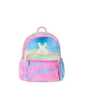 'Sliced' Logo Rainbow Sherpa Backpack